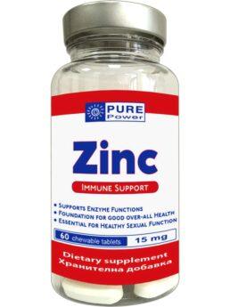 Pure Power ZINC - Цинк под формата на дъвчащи таблети